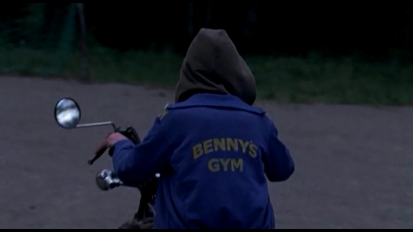 Shot from Benny's Gym, a gay short