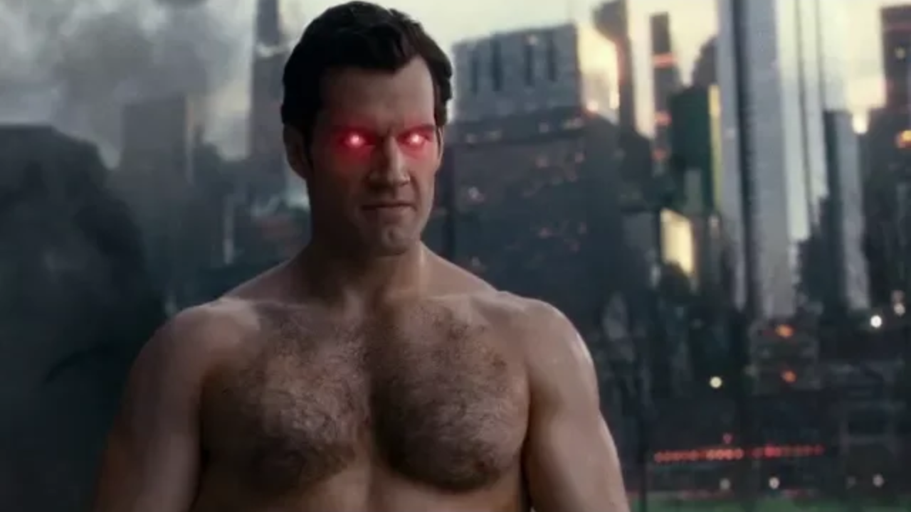 Hairy-chested Superman